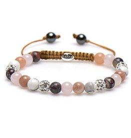 Karma Karma Bracelet 83440 Spiral Beady Blush XS (white crystal)
