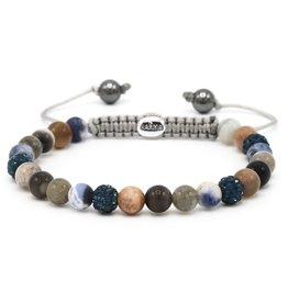 Karma Karma Bracelet 83530 Spiral Charms XS (blue crystal)