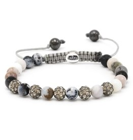 Karma Karma Bracelet 83474 Spiral Multi Grey XS (grey crystal)