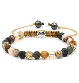 Karma Karma Bracelet 83452 Spiral Walk in the Park XS (gold crystal)