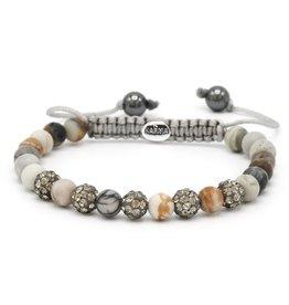 Karma Karma Bracelet 83475 Spiral Midnight XS (grey crystal)