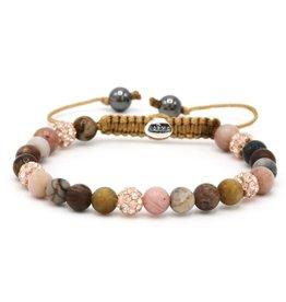 Karma Karma Bracelet 83469 Spiral Rose Garden XS (rose crystal)