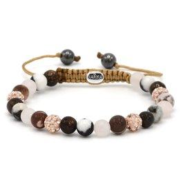 Karma Karma Bracelet 83471 Spiral Panda XS (rose crystal)