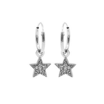 Karma Karma Hoops Symbol Zirconia Star Dots Zilver