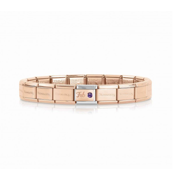 Nomination Nomination Rosé Armband February Birthstone