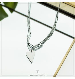 Zag Bijoux Zag Bijoux Necklace Chain Heart Zilverkleurig