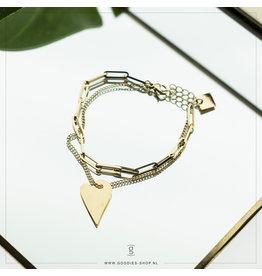 Zag Bijoux Zag Bijoux Bracelet Chain Heart Goudkleurig