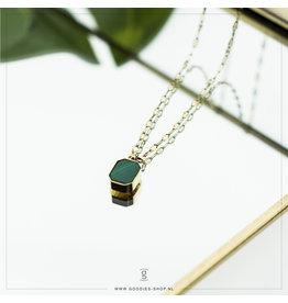 Zag Bijoux Zag Bijoux Necklace Chain Aventurine Goudkleurig