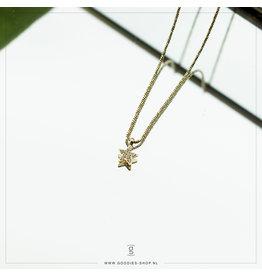 Zag Bijoux Zag Bijoux Necklace Sparkling Star Goudkleurig