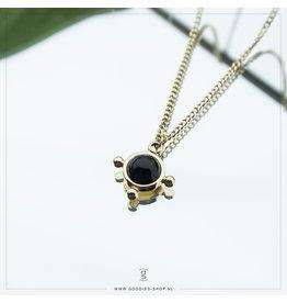 Zag Bijoux Zag Bijoux Necklace Black Onyx Goudkleurig
