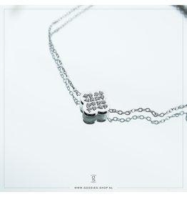 Zag Bijoux Zag Bijoux Bracelet Sparkling Clover Zilverkleurig