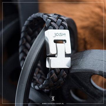 Josh Accessoires Josh Men Armband Donker Bruin