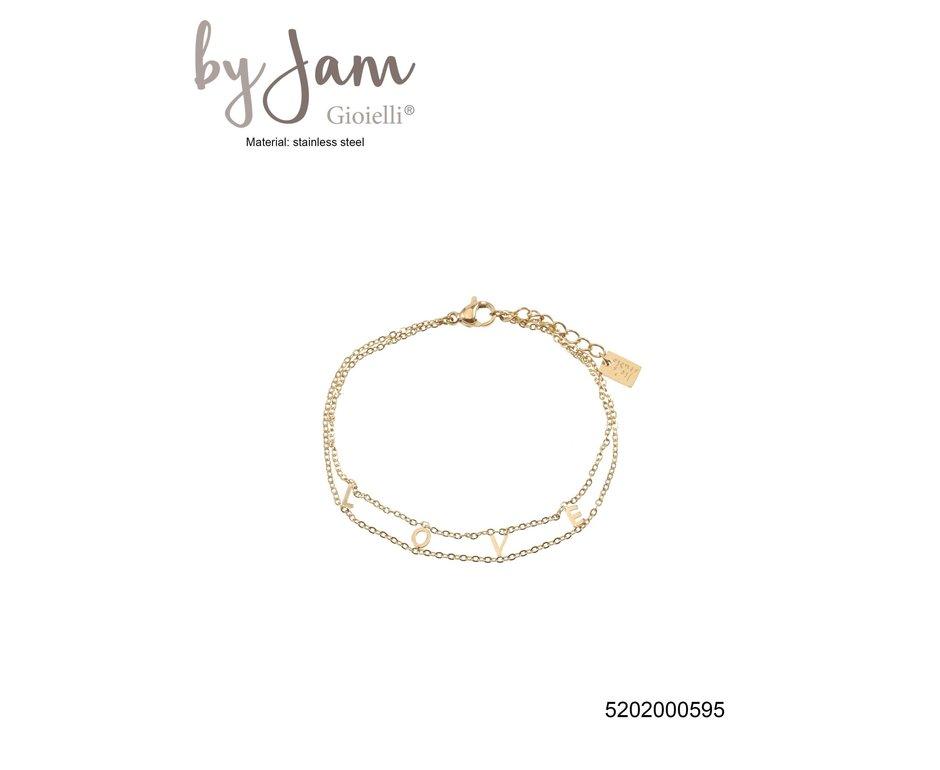 By Jam Gioielli By Jam Armband Love Goudkleurig