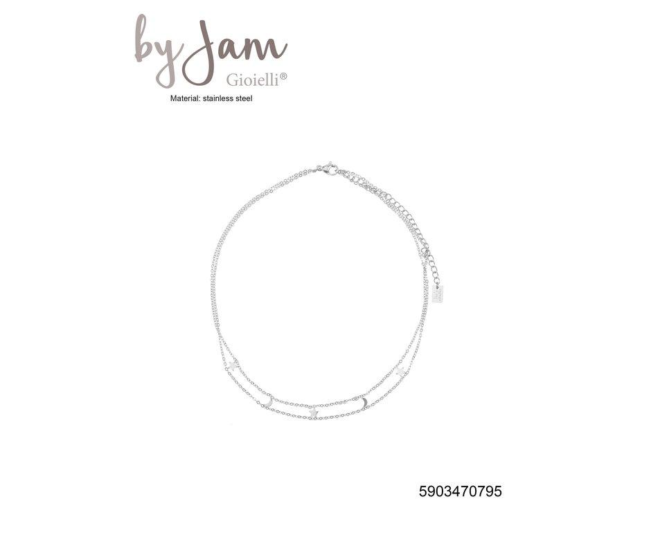 By Jam Gioielli By Jam Ketting Moon & Star Zilverkleurig