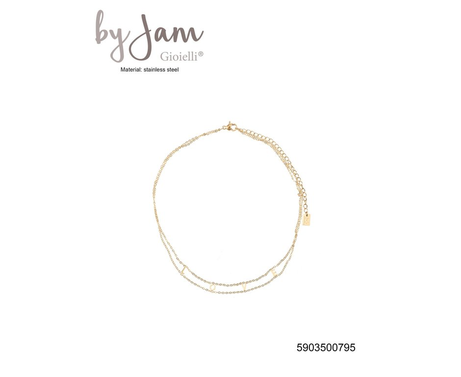 By Jam Gioielli By Jam Ketting Love Goudkleurig