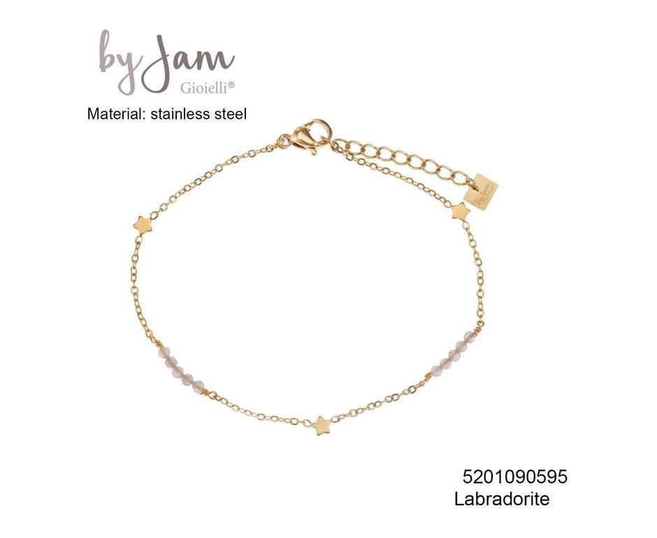 By Jam Gioielli By Jam Armband Star Nude Beads Goudkleurig