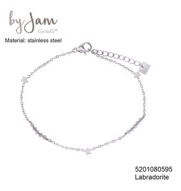 By Jam Gioielli By Jam Armband Star Nude Beads Zilverkleurig