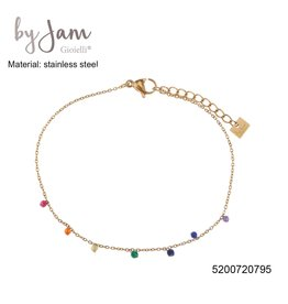 By Jam Gioielli By Jam Armband Multi Beads Goudkleurig