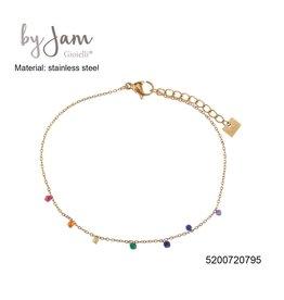 By Jam Gioielli By Jam Armband Multi Beads Goudkleurig