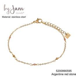 By Jam Gioielli By Jam Armband Nude Beads Goudkleurig