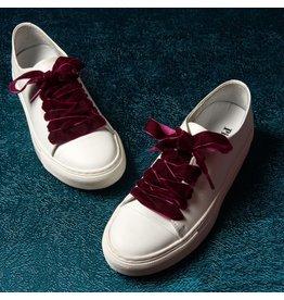 Pinned by K Shoe Laces Velvet Bordeaux