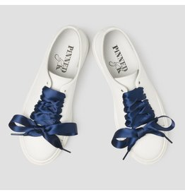 Pinned by K Shoe Laces Satin Navy Blue