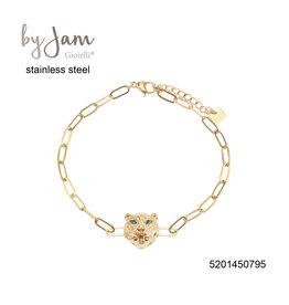 By Jam Gioielli By Jam Armband Leopard Goudkleurig