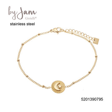 By Jam Gioielli By Jam Armband  Moon & Star Goudkleurig
