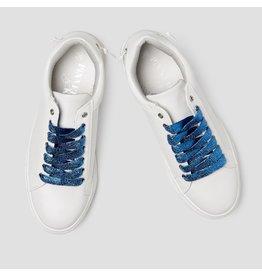 Pinned by K Shoe Laces Glitter Dark Blue