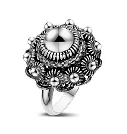 Dutch Button Dutch Button Zeeuwse Knop Ring Bol maat 17