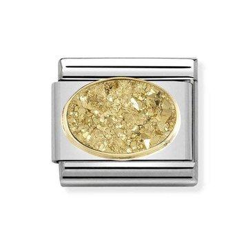 Nomination Nomination Link Gouden Glitter Steen