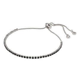 Kalli Kalli Bracelet Zilverkleurig Zwarte Steentjes