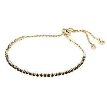 Kalli Kalli Bracelet Goudkleurig Zwarte Steentjes