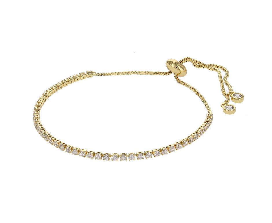Kalli Kalli Bracelet 2584 Goudkleurig Crystal
