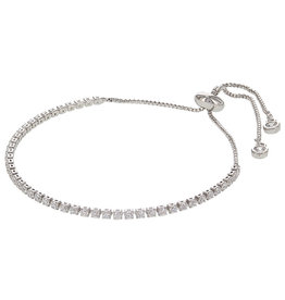 Kalli Kalli Bracelet Zilverkleurig Crystal Steentjes