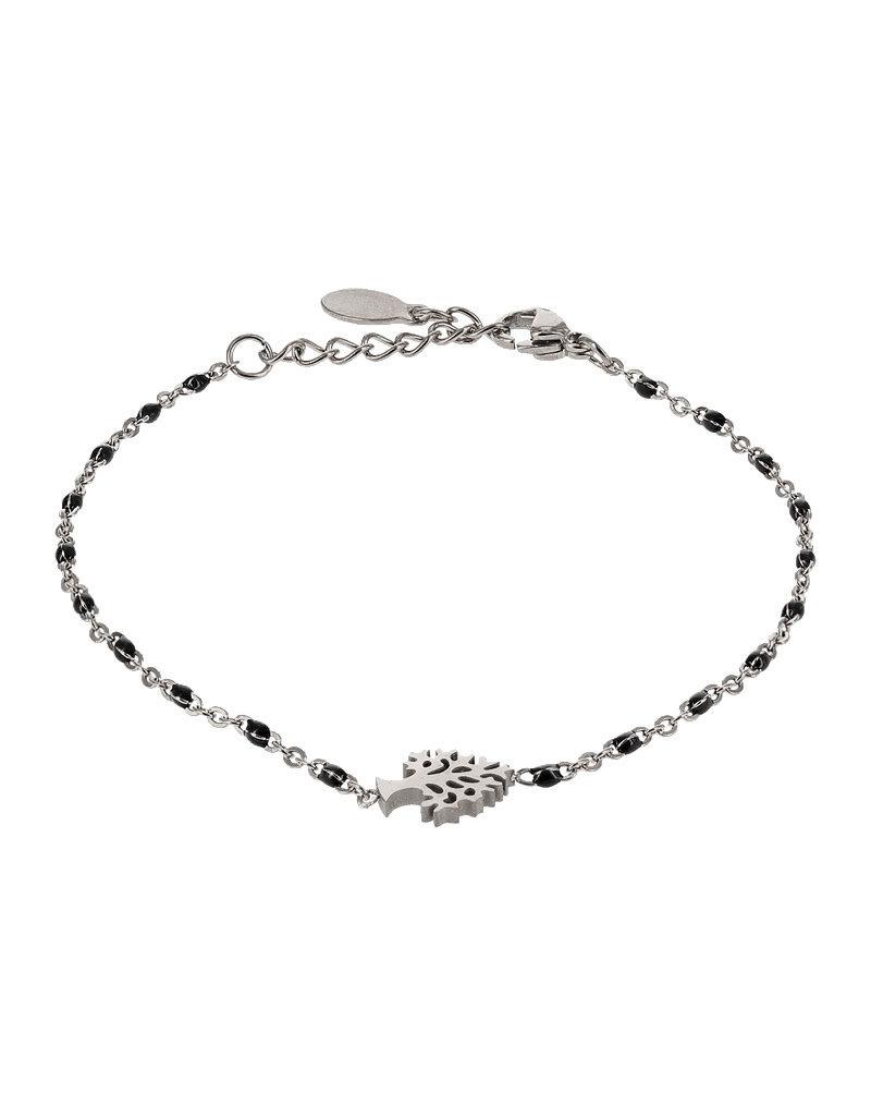 Kalli Kalli Bracelet 2588 Tree of Life Zilverkleurig Black Beads
