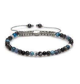 Karma Karma Bracelet Swarovski Stenen Blauw/Zwart