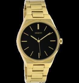 Oozoo Timepieces Oozoo Horloge Zwart-Goudkleurig