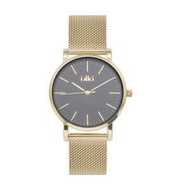 iKKi Horloges iKKi Jamy JM13 Zwart-Goudkleurig