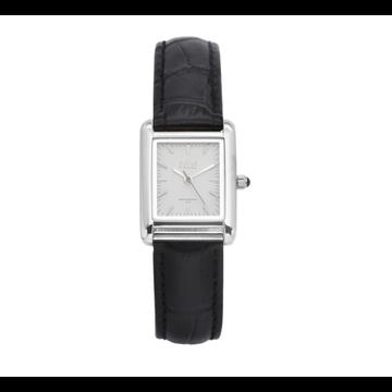 iKKi Horloges iKKi Trace Horloge Zwart-Zilverkleurig