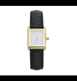 iKKi Horloges iKKi Trace Horloge Zwart-Goudkleurig