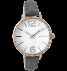 Oozoo Timepieces Oozoo Horloge Goud/Grijs