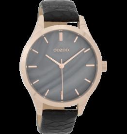 Oozoo Timepieces Oozoo Horloge Black Croco C9724