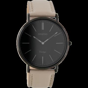 Oozoo Timepieces Oozoo Horloge Taupe/Zwart