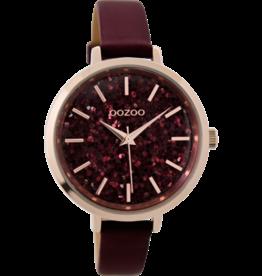 Oozoo Timepieces Oozoo Horloge Bordeaux C9221