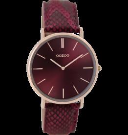 Oozoo Timepieces Oozoo Horloge Bordeaux C9305