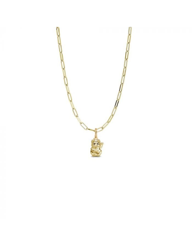 Mi Moneda MMM Lucky Cat Necklace set Goudkleurig