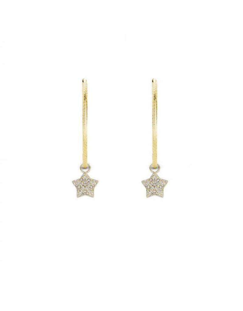 Mi Moneda MMM Jade Star Earring Set Goudkleurig