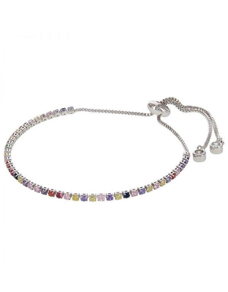 Kalli Kalli Bracelet 2585 Zilverkleurig Rainbow