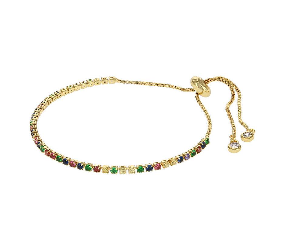 Kalli Kalli Bracelet 2585 Goudkleurig Rainbow